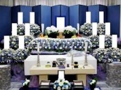 落合斎場でお花に囲まれたお葬式