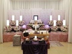 四ツ木斎場で花祭壇の家族葬 20名規模