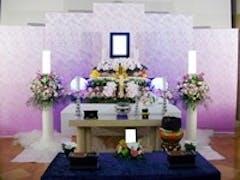 ウイングホール柏斎場で花祭壇の家族葬