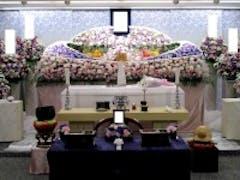 戸田葬祭場3F式場でたくさんのお花に囲まれたお葬式