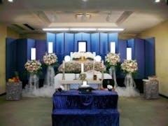松戸市斎場(2F小式場)で花祭壇の家族葬