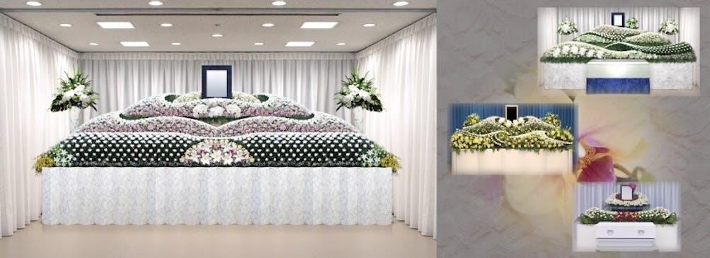 ご要望を反映し一つひとつ手作りする、世界で一つだけの生花祭壇