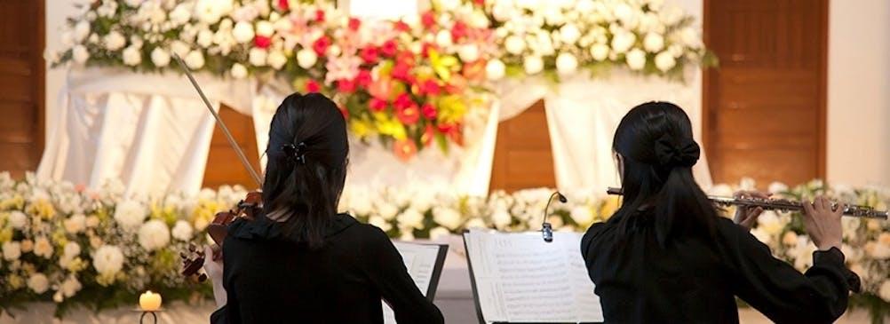 奏でられるアンサンブル。その方が好きな曲を奉げる音楽葬。