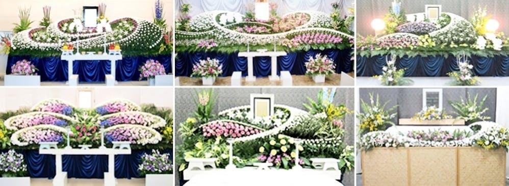 故人様のお人柄をイメージ。華やかな生花祭壇をリーズナブルに