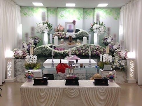 一日葬の祭壇例