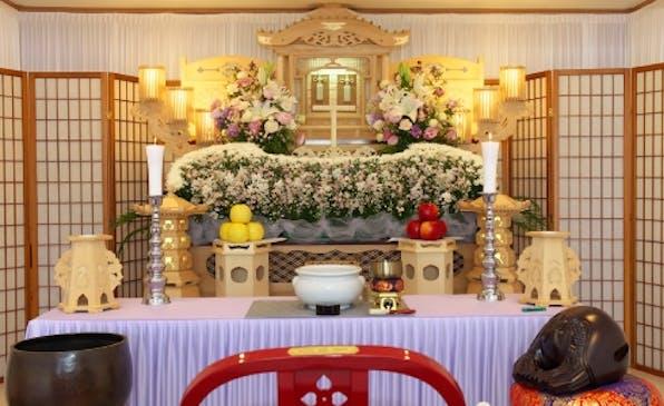 小山あんしん葬祭ホール専用プランの祭壇