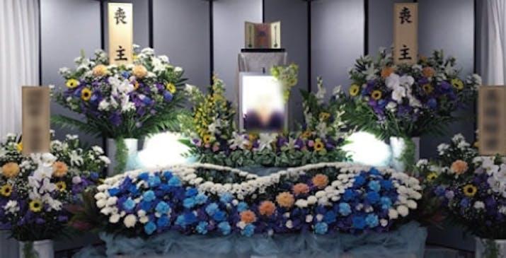 小山あんしん葬祭ホールの内観