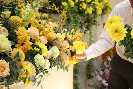 高品質、そして安心価格の花祭壇